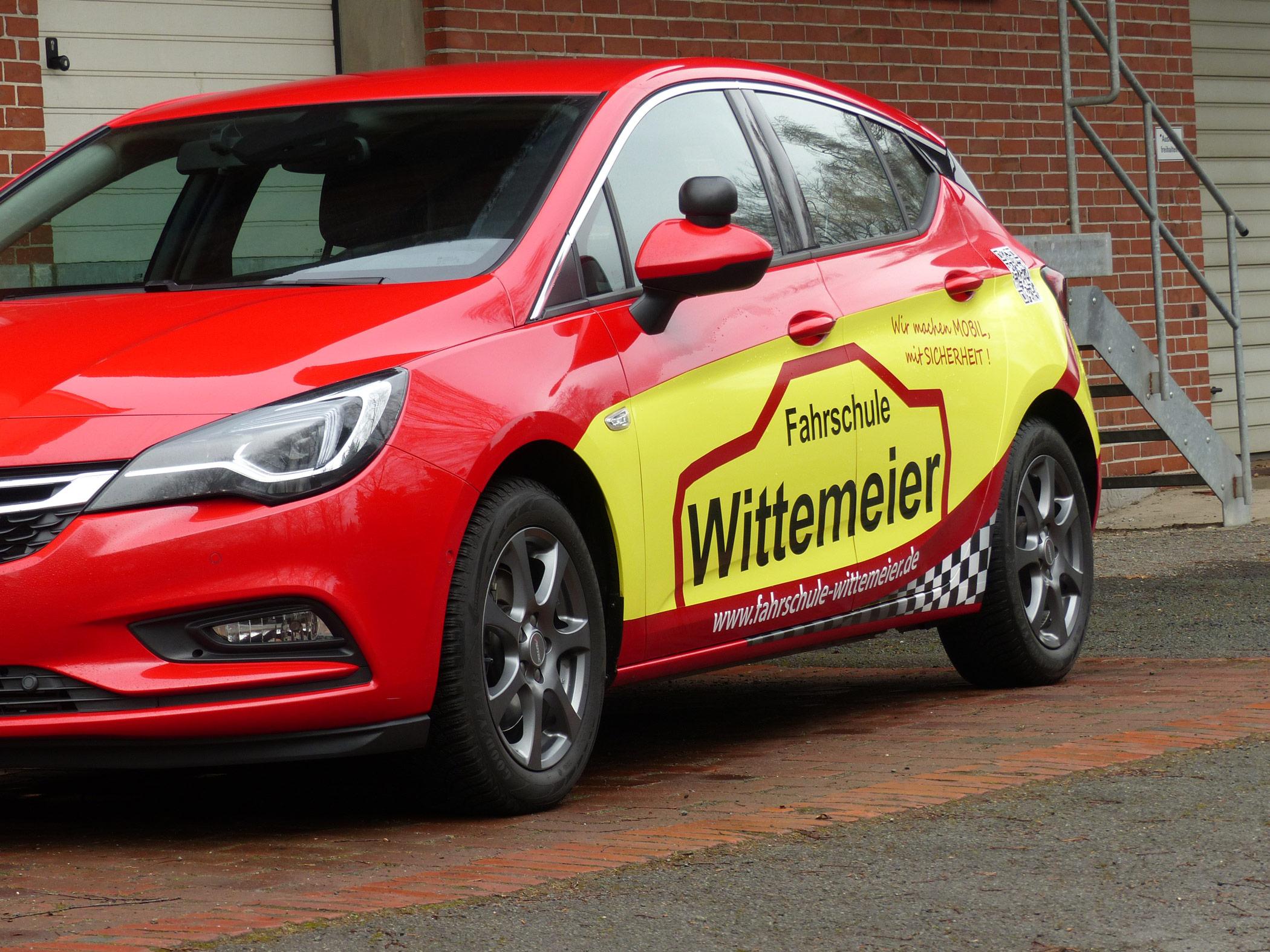 Das Fahrschulauto Opel Wittemeier